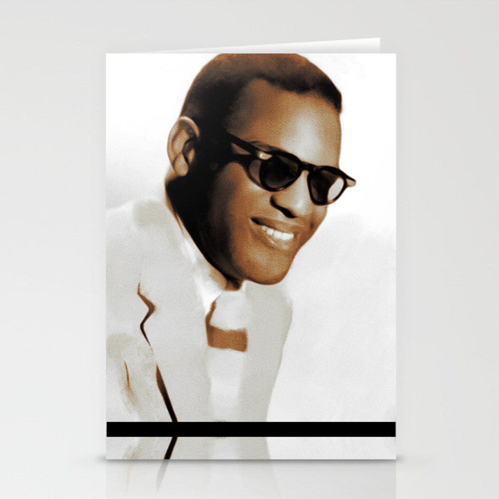Ray Charles, Music Legend Stationery Cards by Esotericaartagency CRD8697553