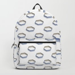 Polygon Shapes with Golden Shade Backpack