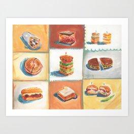 Sandwiches Art Print