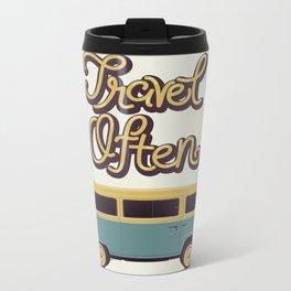 Travel Often Metal Travel Mug