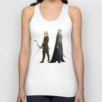 thranduil Tank Tops featuring Legolas & Thranduil by rdjpwns