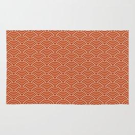 Orange Fish Scales Rug