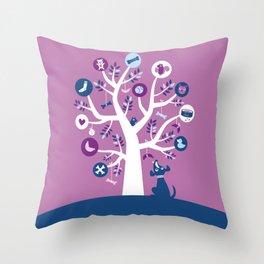 Tree of dreams Throw Pillow