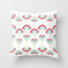 Rainbow Castle Throw Pillow