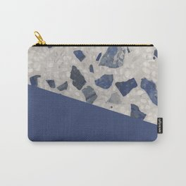 Terrazzo Texture Dark Blue #2 Carry-All Pouch