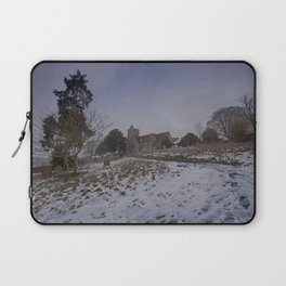 Boughton Church In Winter Laptop Sleeve