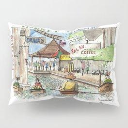 Thailand:  Floating Market Pillow Sham
