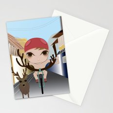 Deery Fairy Riding a Bike Stationery Cards