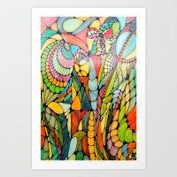 wizard Art Prints featuring Wizard by Alamogordo