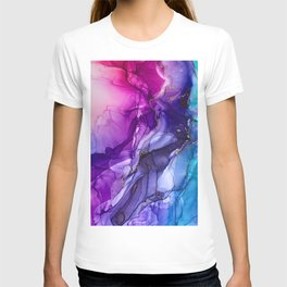 Abstract Vibrant Rainbow Ombre T-shirt