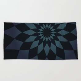 Wonderland Floor in Muted Rain Colors Beach Towel