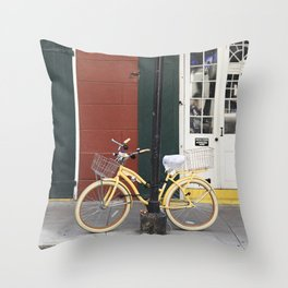 New Orleans Bicycle - Orleans Street Throw Pillow