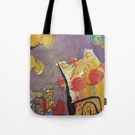 Cat in the city Tote Bag