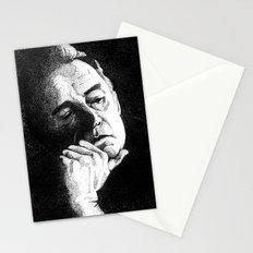 Man In Black JCII Pointillism Stationery Cards