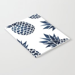 Pineapple Blue Denim Notebook