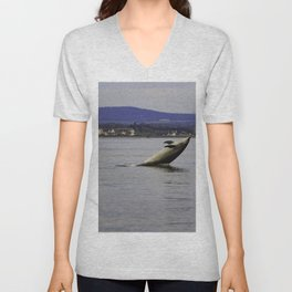 Dolphin having fun Unisex V-Neck