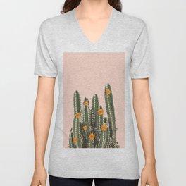 Cactus & Flowers Unisex V-Neck