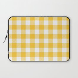 Small Yellow & White Vichy Laptop Sleeve