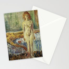 The Death of Marat II by Edvard Munch Stationery Cards