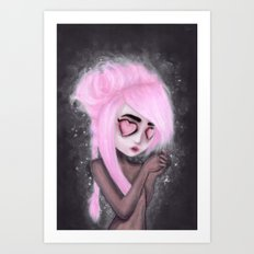 eyes and heart all empty Art Print