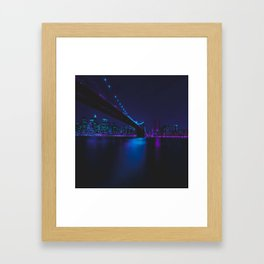 Future Skyline Cyberpunk City Framed Art Print