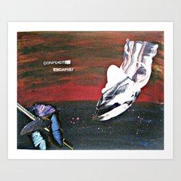 Conflicted Escapist Art Print