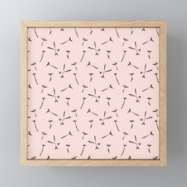 Contemporary Paint Flower Dandelion Pattern Framed Mini Art Print