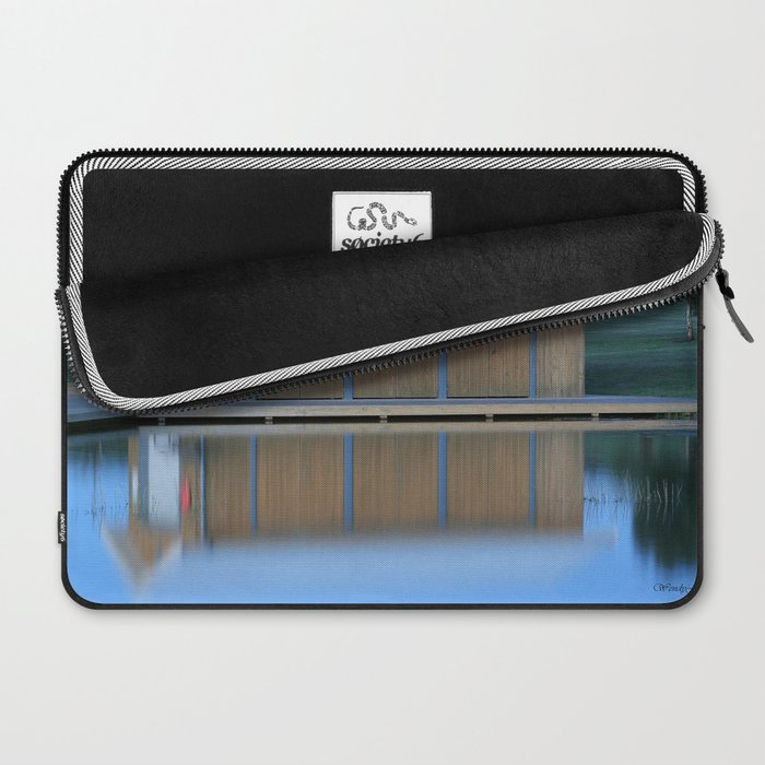 Boat House Blue Laptop Sleeve