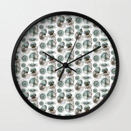 Ernst Haeckel Jellyfish Leptomedusae Cyan Brown Wall Clock