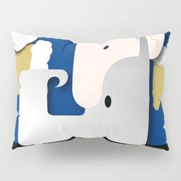 Blue Santa Pillow Sham