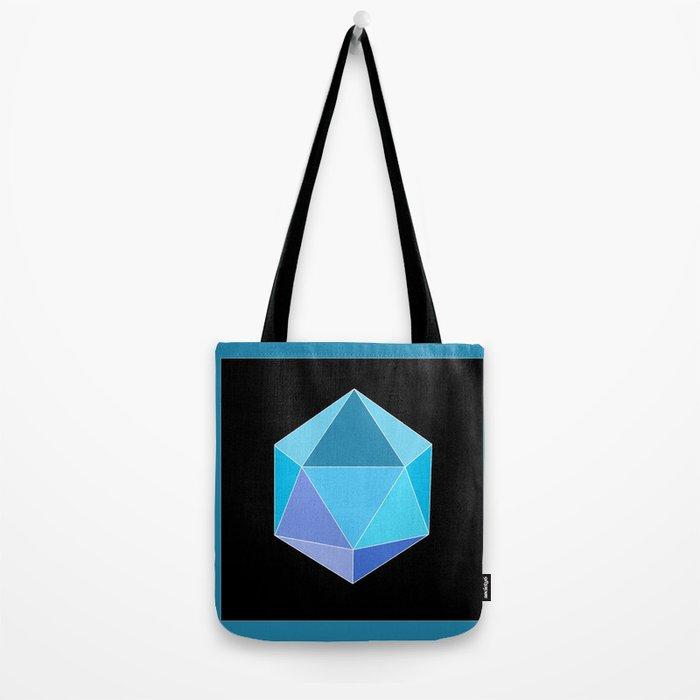 Blue Icosahedron. Tote Bag