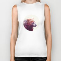 space Biker Tanks featuring Bear // Calm by Amy Hamilton