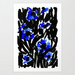SJØ & BLOMST Art Print