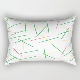 Fallen Toothpicks Rectangular Pillow