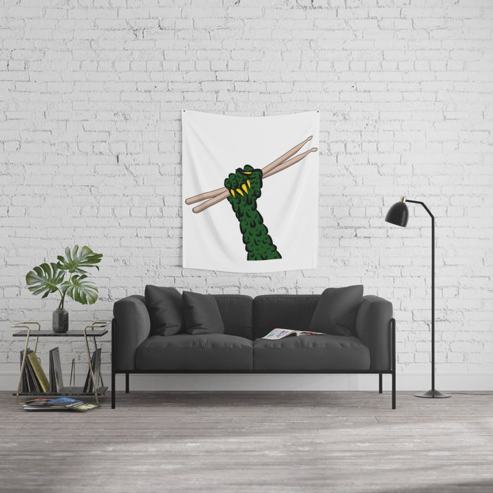 Drum till you Ooze Wall Tapestry