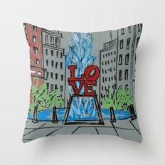 Little Love Park Sketch Throw Pillow