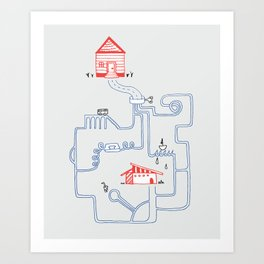 All Roads Lead to Your House Art Print