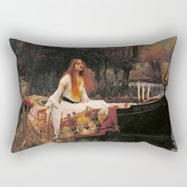 John William Waterhouse The Lady Of Shalott Rectangular Pillow