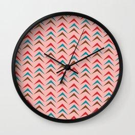 Mid Century Pink Arrow Pattern #homedecor Wall Clock