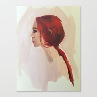 redhead Canvas Prints featuring Redhead by juliecolette