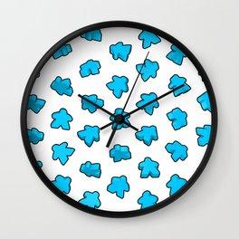 Meeple Mania Icy Blue Wall Clock