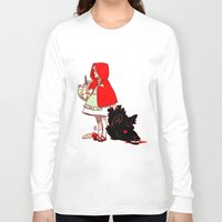 red hood Long Sleeve T-shirts featuring Little Red Hood by Madeoftin