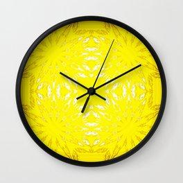 Yellow Color Burst Wall Clock