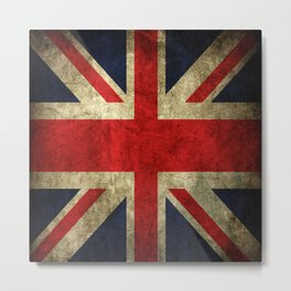 GRUNGY BRITISH UNION JACK  DESIGN ART Metal Print