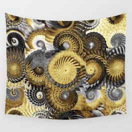 Golden and Silver Twisters Wall Tapestry