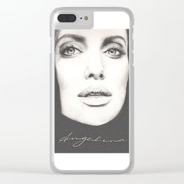 the lovely angelina... Clear iPhone Case