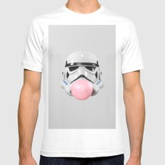 Stormtrooper Bubble Gum White Mens Fitted Tee MEDIUM