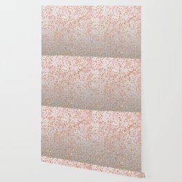 Mixed glitters on pink marble Wallpaper
