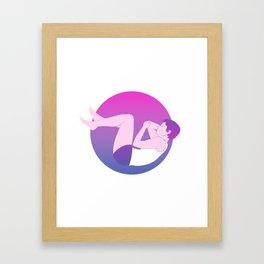 Floating in Space Framed Art Print
