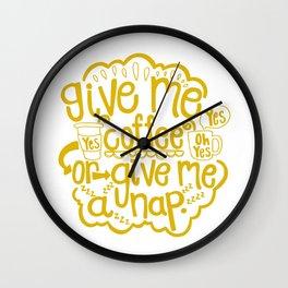 Coffee or Nap Wall Clock